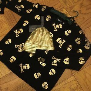 Golden beanie hat by ZARA 👍